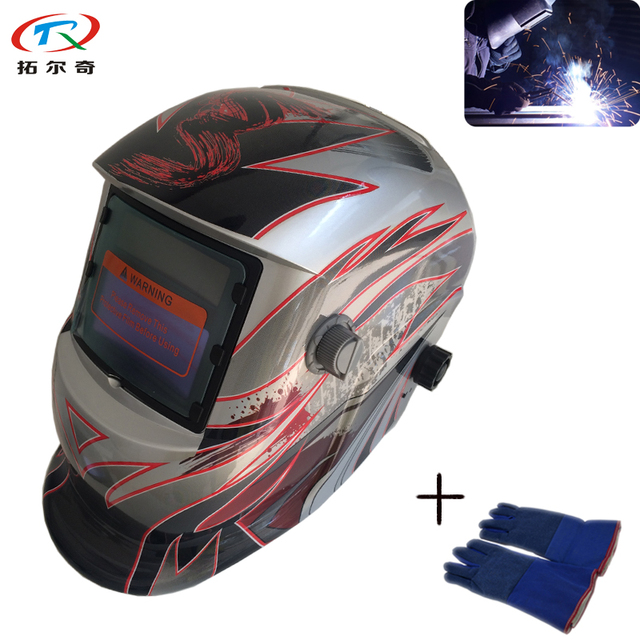 fast shipping flower pattern welding mask weld glove tig mig arc
