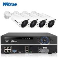 Witrue 4CH 48V POE NVR System FHD 1080P Waterproof IP Camera Surveillance System Outdoor Night Vision
