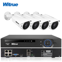 Witrue 4CH 48V POE NVR System FHD 1080P Waterproof IP Camera Surveillance System Outdoor Night Vision
