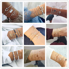2019 20 Styles Mix Turtle Heart Pearl Moon Wave Crystal Marble Charm Bangle For Women Boho Tassel Bracelet Jewelry Wholesale цены