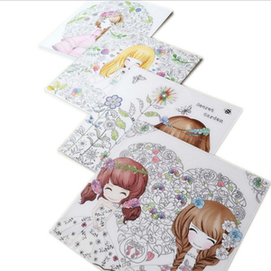 Image 5 - Flower girl secret garden coloring book ancient style painting book children coloring graffiti picture book
