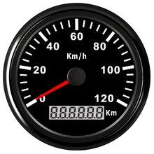 85 мм мотоцикл gps Спидометр Одометр для грузовика лодки автомобиля цифровой спидометр 12 В 24 в красный черный свет водонепроницаемый IP67