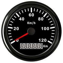 85mm motocykl prędkościomierz gps przebieg dla ciężarówki łódź samochód prędkościomierz cyfrowy 12V 24V czerwony Blacklight wodoodporny IP67 Prędkościomierze Samochody i motocykle -