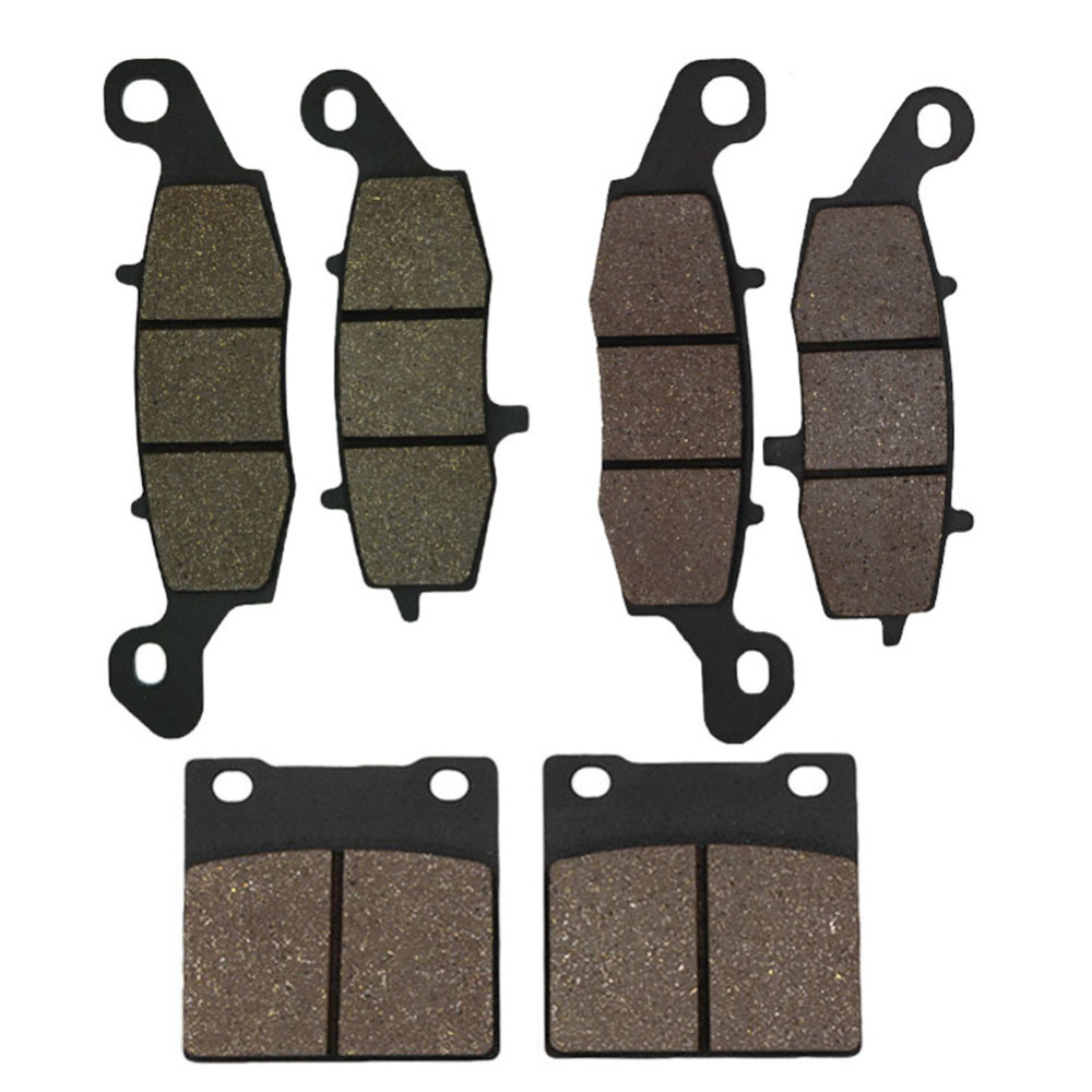 Cyleto Motorcycle Front and Rear Brake Pad for Suzuki GSX 600F 98-06 GSX 750F 98-06 GSF600 Bandit 600 00-04 SV650 99-02 motorcycle front and rear brake pads for suzuki gsx 600 gscx600 f katana 1998 2006 black brake disc pad