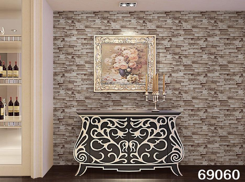 Us 2058 58 Offpvc Tile Vintage Wallpaper 3d Stereoscopic Simulation Imitation Brick Pattern Wallpaper Stone Wall Culture In Wallpapers From Home