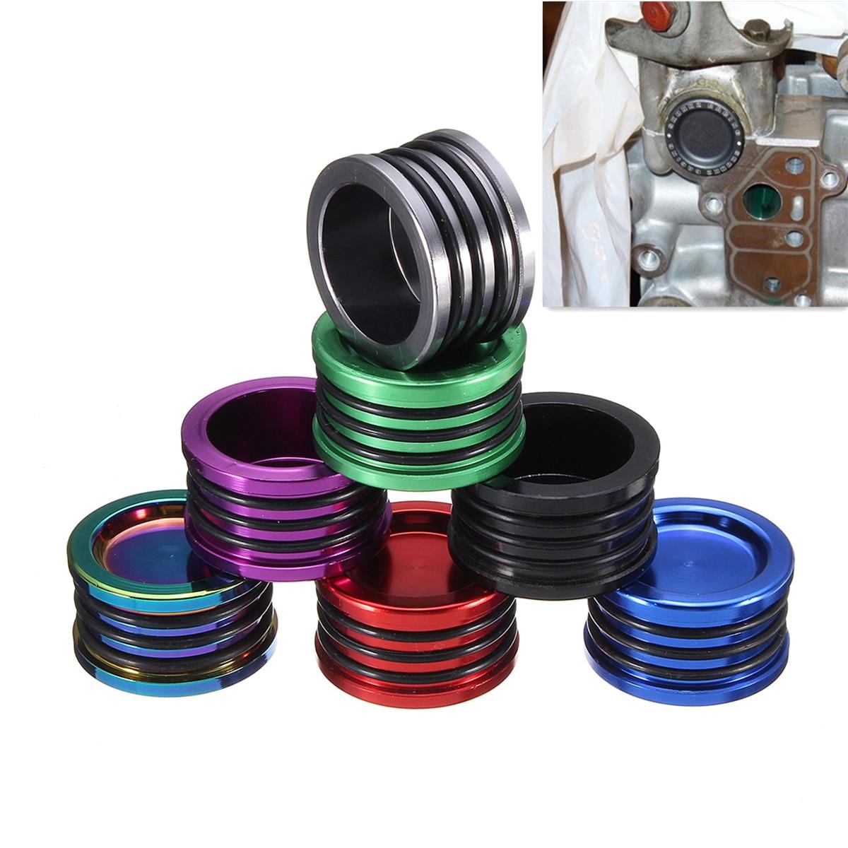 Car Engine Cam Shaft Seal Cover Cap Plug Triple O-Ring Aluminum 7Color For Honda For Acura B16 B18 B17 B20