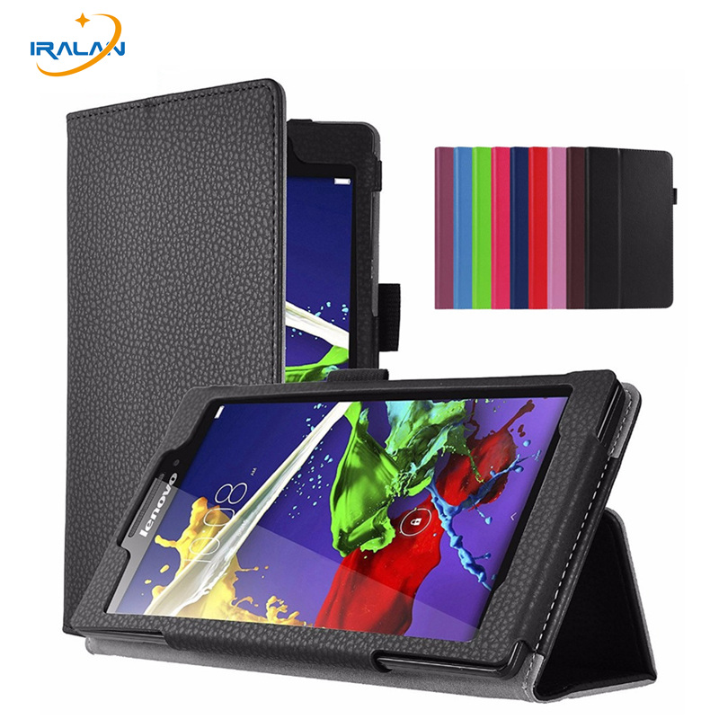 2017 new Litchi Stand Protective Folio Case For Lenovo Tab 3 8 TB3-850F TB3-850M TB3-850X PU Leather Tablet PC Cover+screen+pen for lenovo tab 2 a7 30 2015 tablet pc protective leather stand flip case cover for lenovo a7 30 screen protector stylus pen