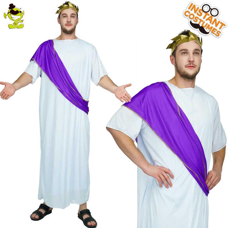 a36c0c6ce96 Для мужчин s римские благородный костюм ДЕШЕВЫЕ роман взрослых благородный  греческий White Toga Цезарь Для мужчин