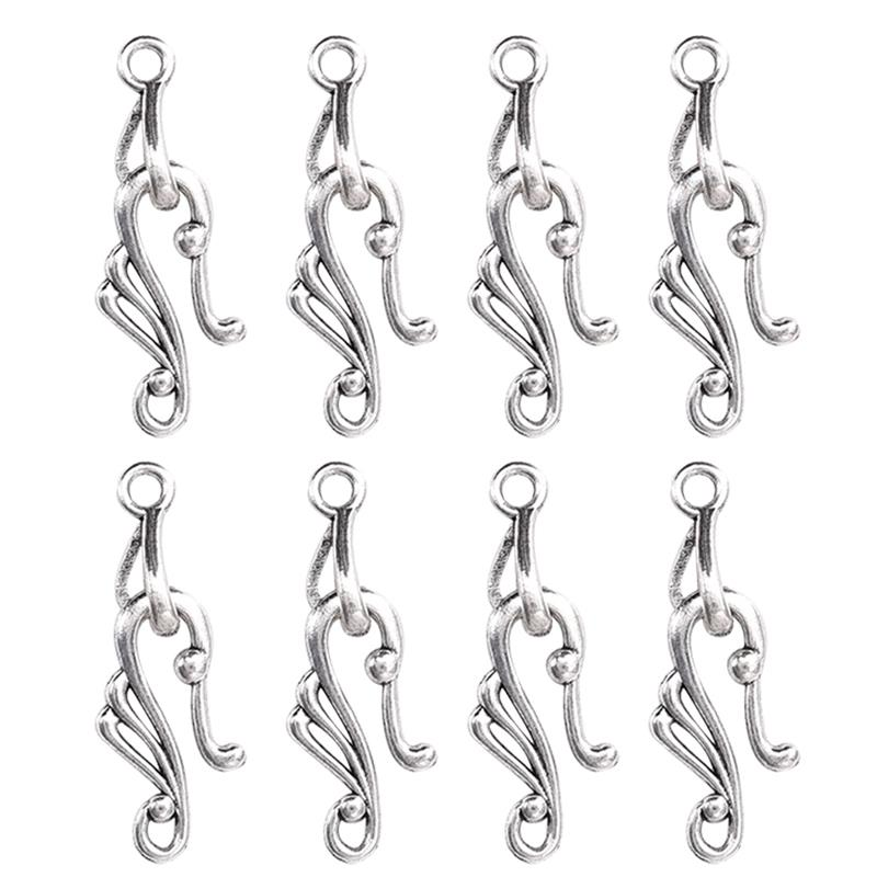 20pcs S Shape Hook DIY Fit Necklace Bracelet Jewelry Findings Making Wholesale For Women Supplies For Jewelry