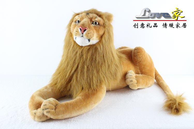 ФОТО lovely stuffed animal lion plush toys lying lion doll birthday gift  about 90cm