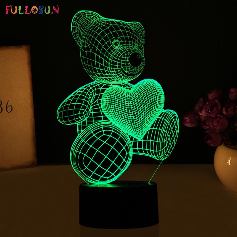 HTB1v04iRVXXXXaHapXXq6xXFXXXi - Lampka Nocna Led 3D Miś