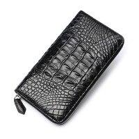 2018 новый портмоне тиснением аллигатора Мода Крокодил длинные Для мужчин клатч кошельки Для мужчин крокодил Длинный кошелек сцепления