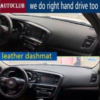 for Kia Optima K5 2010 2011 2012 2013 2014 2015 Leather Dashmat Dashboard Cover Car Dash Mat SunShade Carpet pads accessories