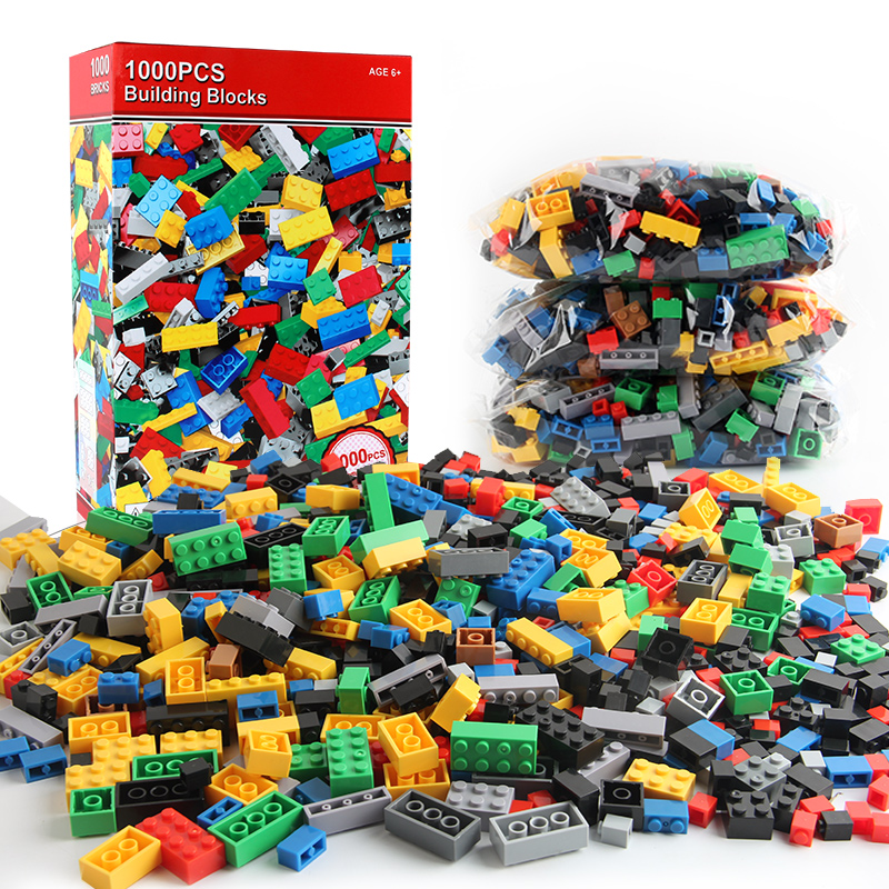 1000Pcs City DIY Building Blocks LegoINGLs Bulk Sets Minecrafteds Classic Creative Technic Bricks Baseplate Toys Christmas Gifts in Blocks from Toys Hobbies