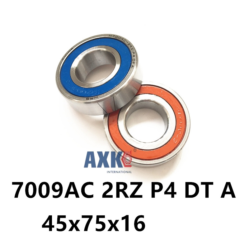 1 Pair AXK 7009 7009AC 2RZ P4 DT A 45x75x16 45x75x32 Sealed Angular Contact Bearings Speed Spindle Bearings CNC ABEC-7 1 pair mochu 7009 7009c 2rz p4 db a 45x75x16 45x75x32 sealed angular contact bearings speed spindle bearings cnc abec 7