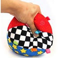 Brand New Design Colorful Music Bell Children Toys Baby Educational Soft Cloth Ball Hand Grasp Practicing