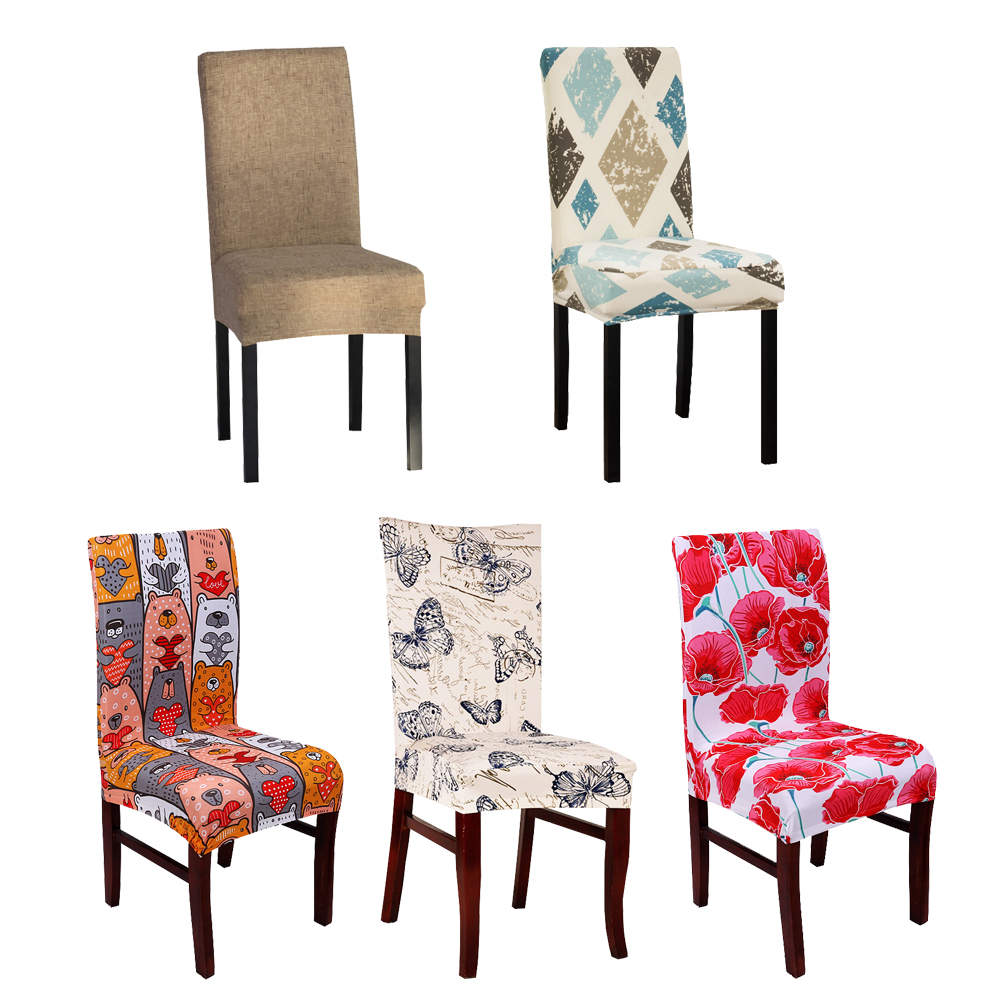 dining chair covers aliexpress vintage rocking com buy spandex elastic butterfly printing protector slipcover kitchen cover removable dustproof decorative seat case