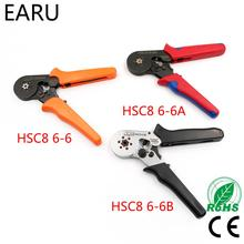 HSC8 6-6 0.25-6mm 23-10AWG Adjustable Hexagon Tube Bootlace VE Terminal Connectors Crimping Pliers Crimp Hand Tools Ferramentas hsc8 6 6 bootlace ferrules crimping pliers tools 23 10 awg for pin terminal