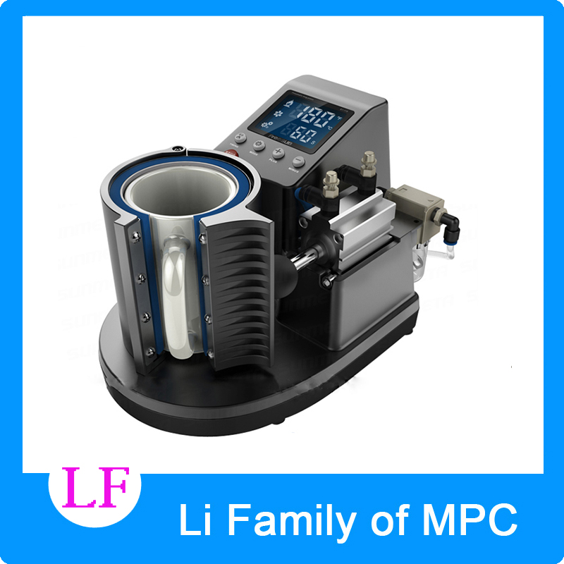 2016  Mini Pneumatic Vertical Multi-function Heat Transfer Press Thermal Printing Mug Cup Machine ST110 12v 4 1 inch hd bluetooth car fm radio stereo mp3 mp5 lcd player steering wheel remote support usb tf card reader hands free