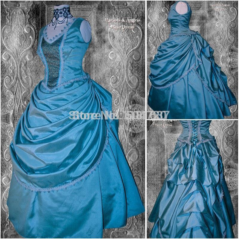 90c77d77dad21 R-373 بالطلب 18 القرن الحرب الأهلية جنوب بيل الكرة ثوب فساتين  فيكتوريا النهضة اللباس