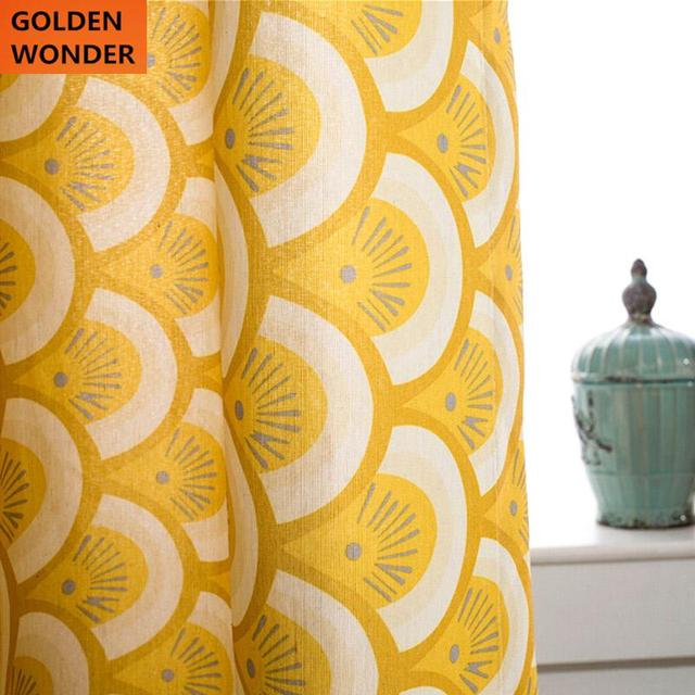 Exceptionnel Simple Geometric Cotton Yellow Curtain Curtains For Bedroom Curtains For  Living Room Modern Curtains Cloth Windows