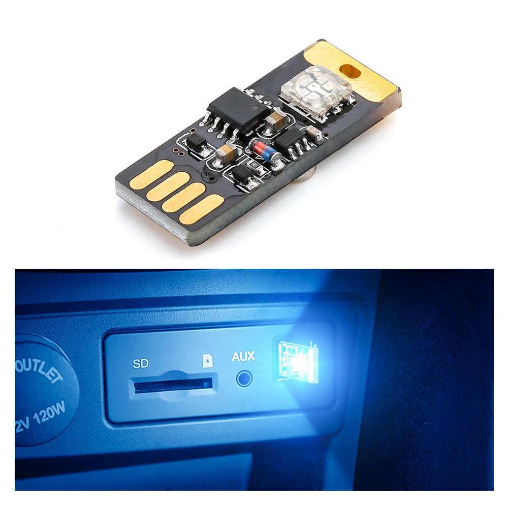 Автомобильный светодиодный USB лампа RGB атмосферу свет декоративная лампа для BMW E46 E60 E90 F30 F10 Toyota автомобиля Ford Focus 2 Fiesta Audi A4 B6 B8 A6