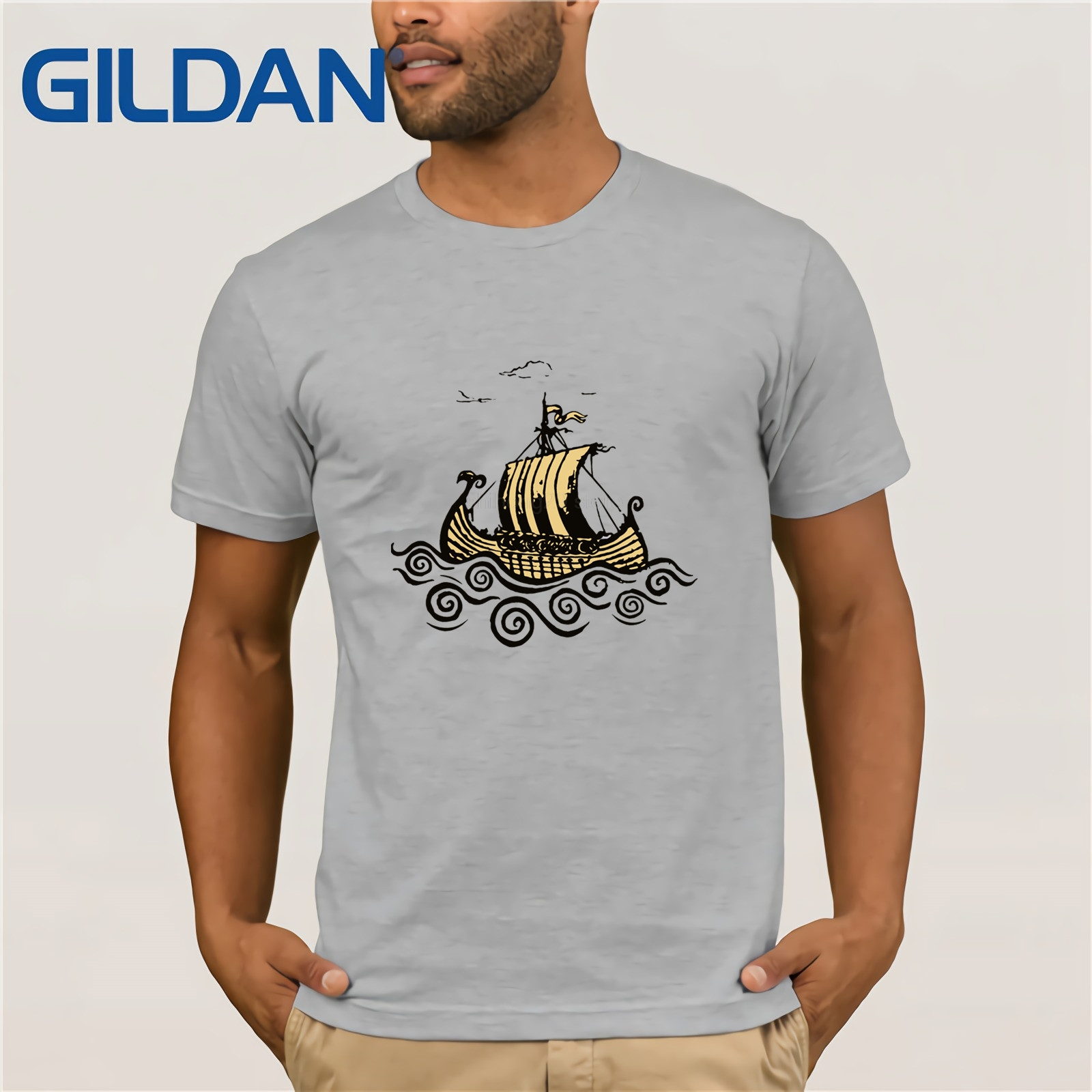 c897b5662 Men's 2019 Retro Vikings Are Coming T Shirts Vikings Ship T Shirt Tv Series  History Merchandise T Shirt Hipster Tops Custom Tees