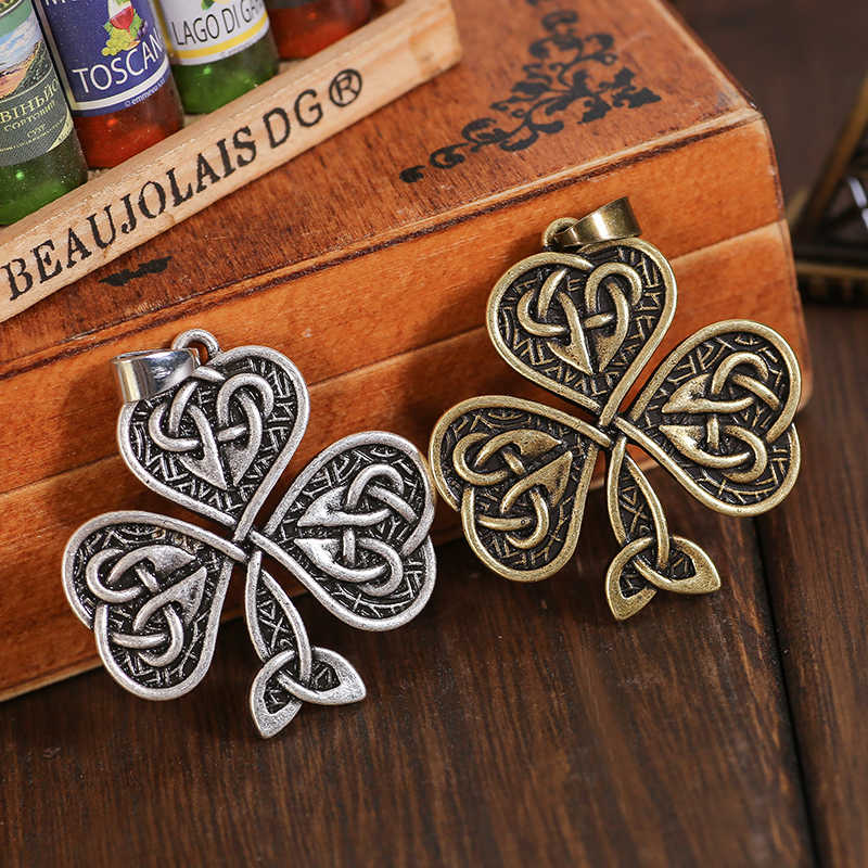Celtic Knot naszyjnik szczęście koniczyny naszyjnik dla ulubionych ludzi