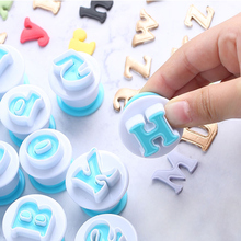 New Letter and Number Stainless Steel Spring Cookie Mold English Molded Sugar Deco Printed Press Cut Baking Mould