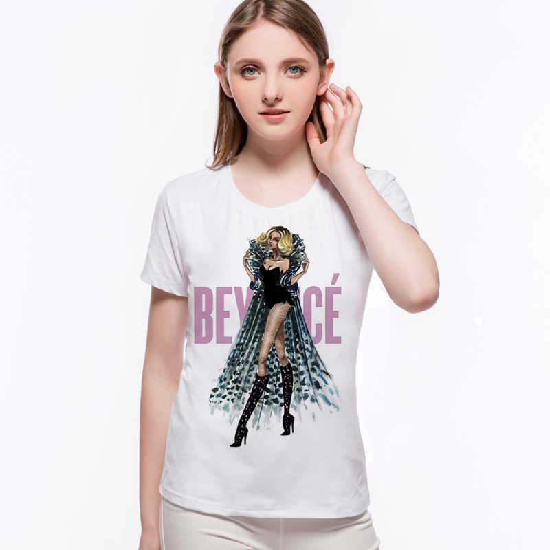 Moda Beyonce Divertente Stampa T Shirt di Cotone Casual Marca divertente Tee Delle Donne Manica Corta Femme Camisetas Mujer L9-G51