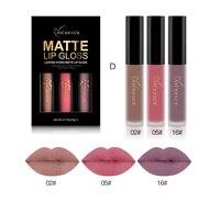 3pcs Set Waterproof Colors Matte Lipstick Long Lasting Moisturizer Temptation Nutritious Liquid Lips Makeup Kits Cosmetic