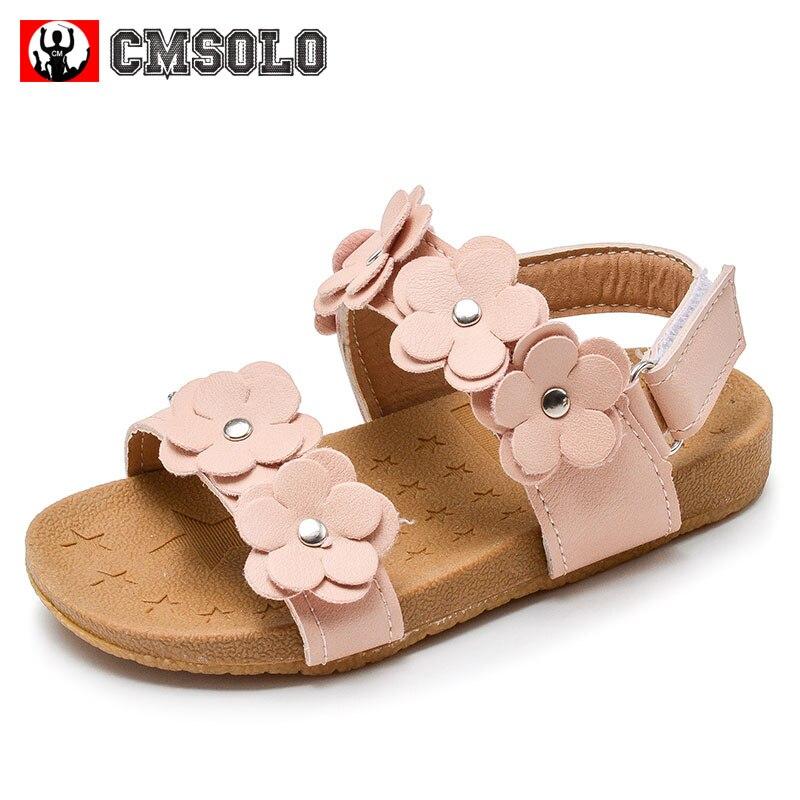 CMSOLO Mädchen Sandalen 2018 Sommer Sandalen Für Kinder Kind Blume Weichen Boden Weibliche Baby Rosa Sandalen Rosa Weiß Mädchen Kleinkind Schuh