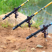 Fish Rod Stand Bracket Angle Adjustable Fishing Rods Holder Telescoping Fishing Tool Stainless Steel Hand Rod