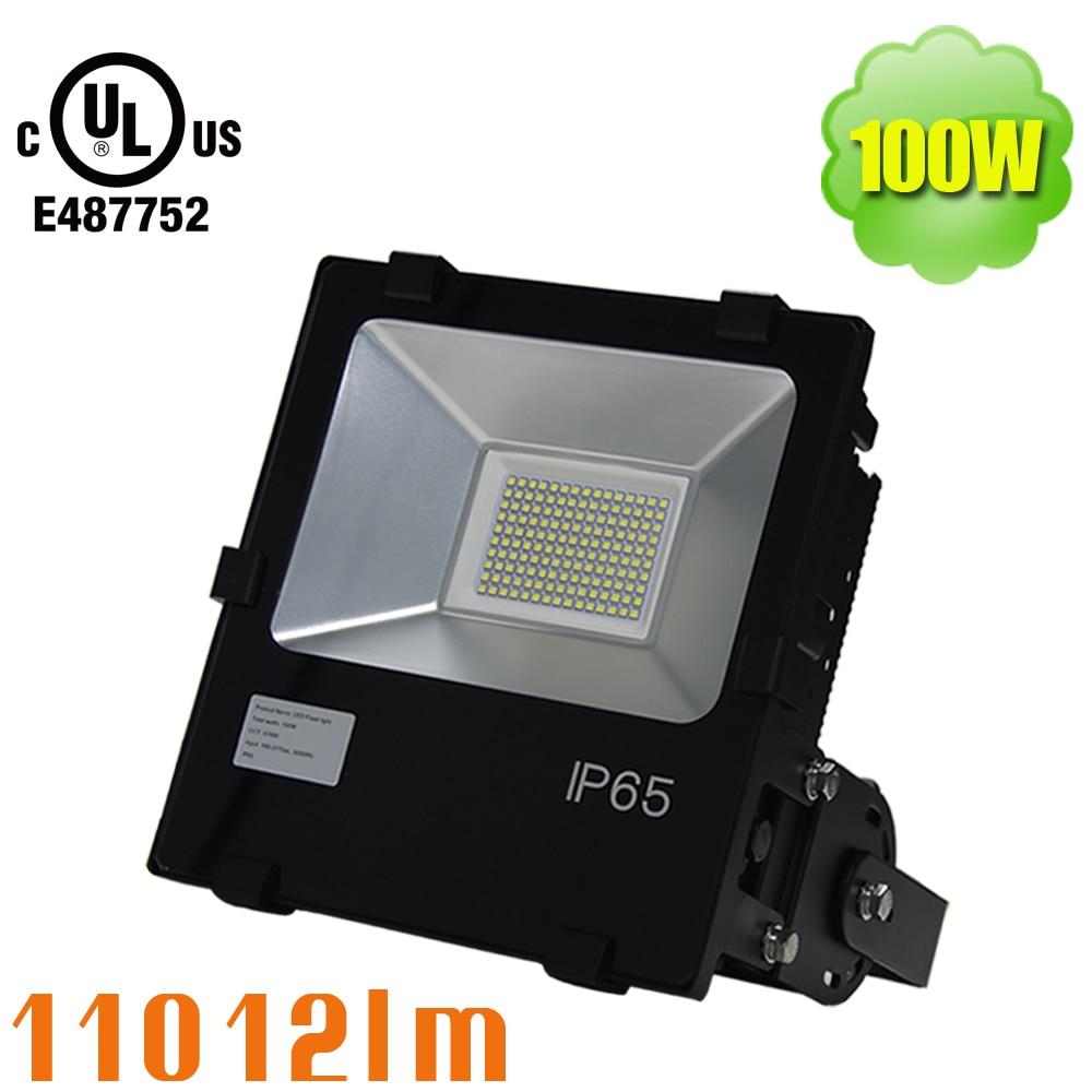 100W Outdoor LED Flood Lights, 11000 Lumen, 250W HPS Bulb Equivalent, IP66  Waterproof