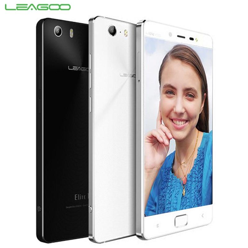 Original LEAGOO Elite 1 Cell Phone 3GB RAM 32 ROM Octa Core 5.0'' Screen 16MP Camera Android 5.1 OS Fingerprint Smartphone