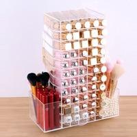Acrylic Rotating Lipstick Case Holder Cosmetic Organizer Makeup Storage box Display Box Stand Nail Polish Rack Gift for Women