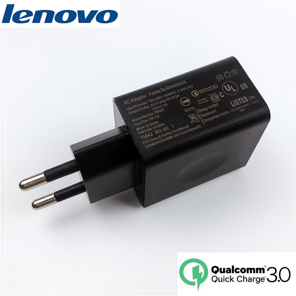 For Lenovo QC3.0 12V2A EU Original Fast Charger Quick Charger For K5 Spelen S5 Pro K6 z5 z6 lite k5 pro smartphone P68AS