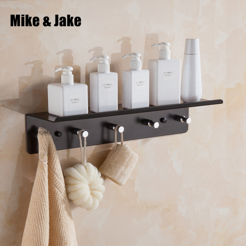 Whole aluminum folding black bath towel rack Active bath towel shelf bathroom shelf towel holder black Double towel shelf MH6005 whole brass towel shelf antique brass bath towel rack active bath towel rack bathroom cloth holder antique double towel shelf