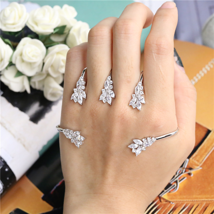 ZOZIRI Plant Design Crystal Flower Leaf Palm Bracelet Silver Hand Palm Jewelry Handlets For Women 925 sterling silver jewelry-in Bangles from Jewelry & Accessories on Aliexpress.com | Alibaba Group
