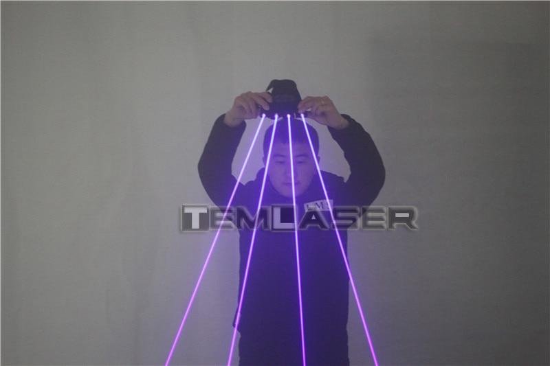4 ədəd 450nm 80mW lazerli, çox işıqlı mavi lazer əlcəklər, - Şənlik aksesuarları - Fotoqrafiya 5