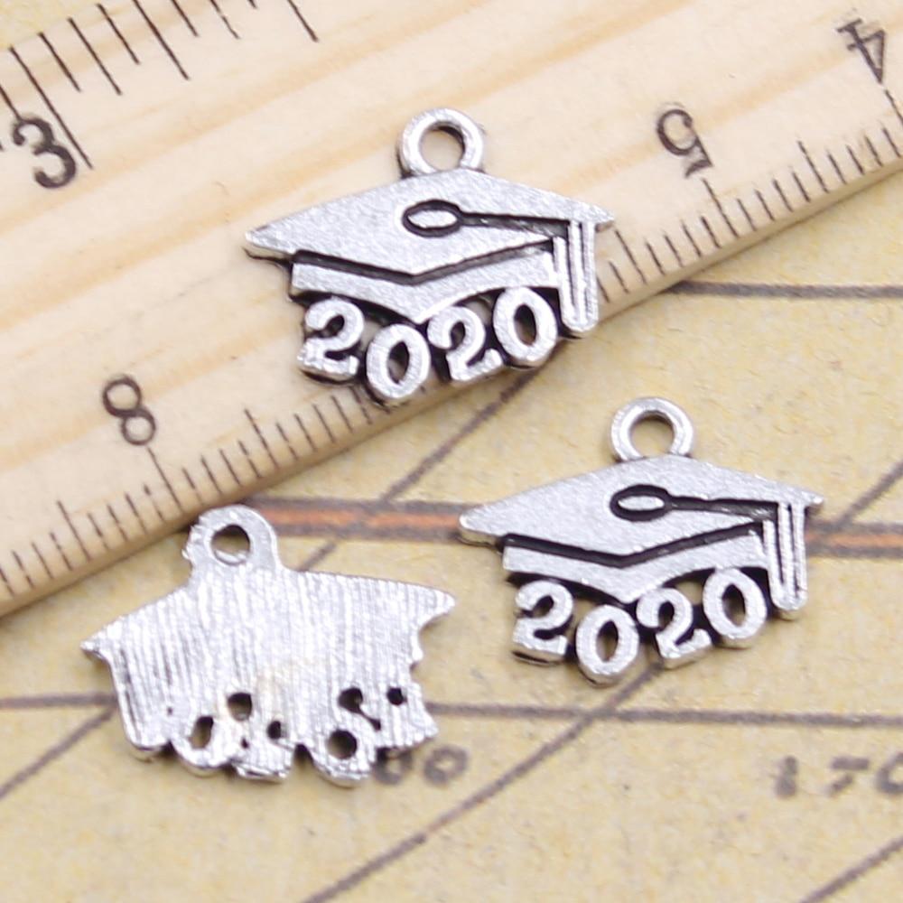 Graduation Diploma Charm//Pendant Tibetan Antique Silver 21mm  5 Charms Accessory