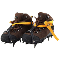 FJS Strap Type Crampons Ski Belt High Altitude Hiking Slip Resistant 10 Crampon