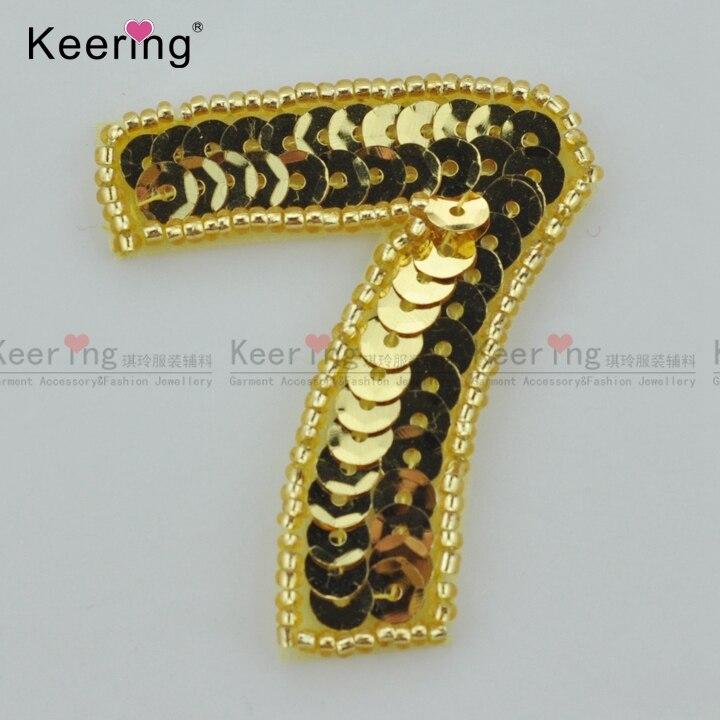ᐃColor del oro de la alta calidad 7 sequin Patch WRAB-015 - a474 cb02bae62df