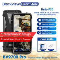 Blackview BV9700 Pro IP69 Waterproof Mobile Phone Helio P70 6GB+128GB 4380mAh Android 9.0 Night Vision Dual Camera Smartphone
