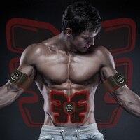 EMS electro muscle massager muscle stimulator electronic tens stimulation ems gel pads smart fitness machine