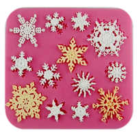 Free shipping many snowflake cooking tools fondant DIY cake silicone moulds chocolate baking decoration candy Resin craft