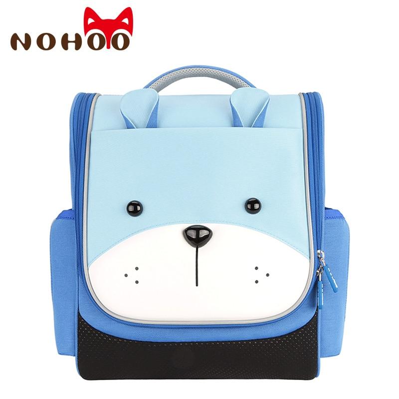 NOHOO Children School Bags for Boys Kids Nylon Teenage Orthopedic School Backpacks Girls Book Bag mochilas escolares infantis-in School Bags from Luggage & Bags    1