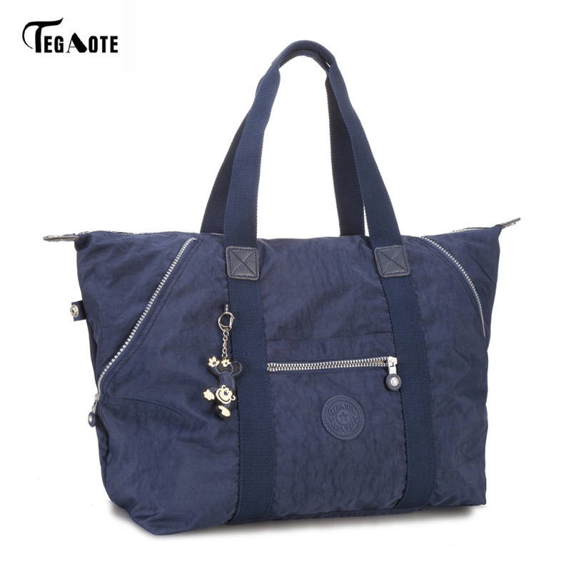 TEGAOTE Top-handle Bag Handbags Women Famous Brand Big Nylon Shoulder Beach Bag Casual Tote Female Purse Sac Femme Bolsa Feminia top handle bag shoulder luxury handbags women messenger bags designer nylon female beach casual tote purse sac femme bolsa