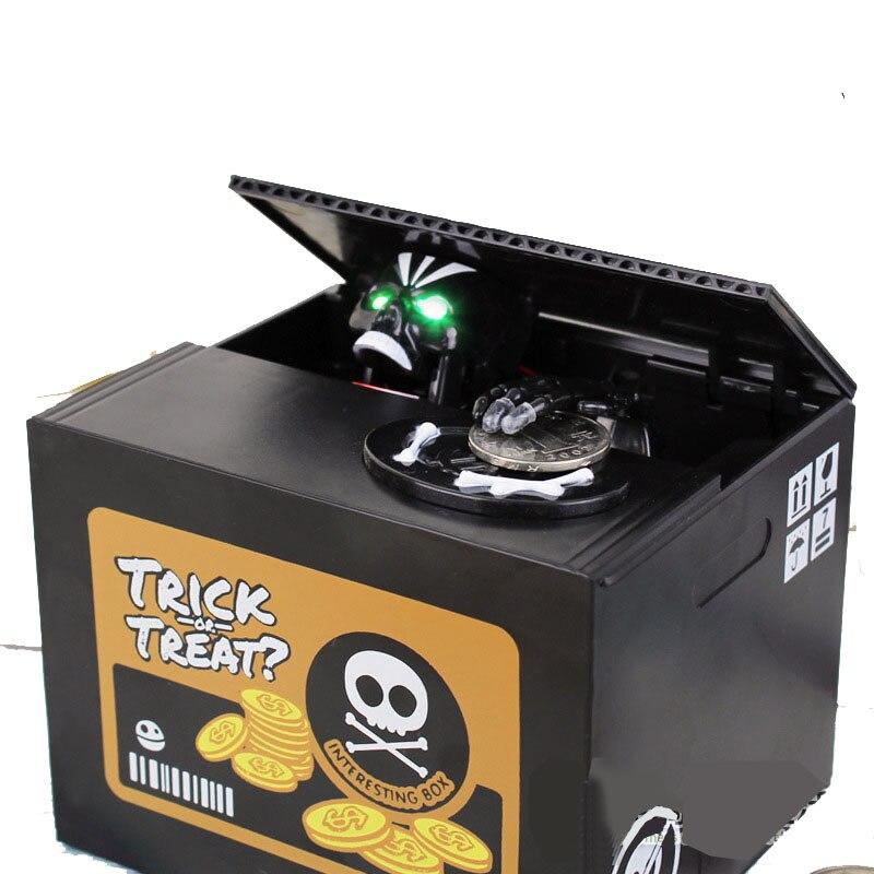 Skull Large Piggy Bank Money Box Coin Box Funny Sound Lights Hucha PIGGY MOENY BOX Savings Money For Children