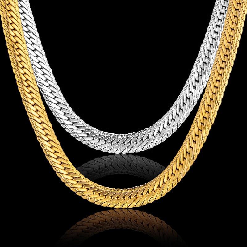 Hiphop Gold Chain miesten Hip Hop ketjun kaulakoru 8MM kulta väri - Muotikorut - Valokuva 5
